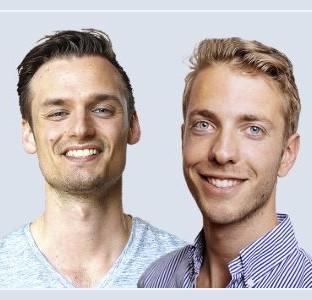 Op deze foto zie je Patrick Suiker en Derek Westra, oprichters van de Crypto Portfolio