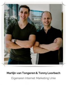 Op deze foto zie je Tonny Loorbach & Martijn Van Tongeren, de oprichters van IMU