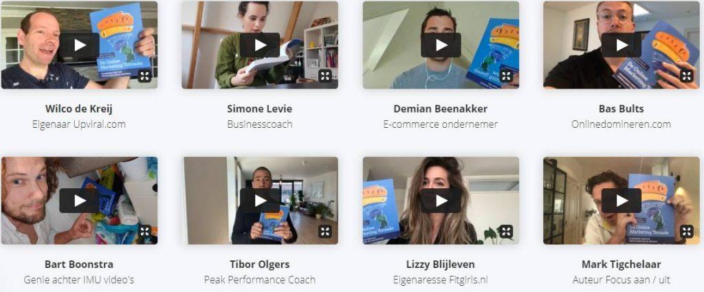 Op deze foto zie je allemaal mensen met de online marketing tornado boek