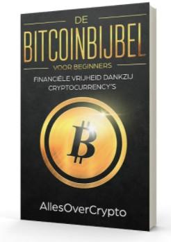Op deze foto zie je de bonus Bitcoinbijbel uit de crypto masterclass