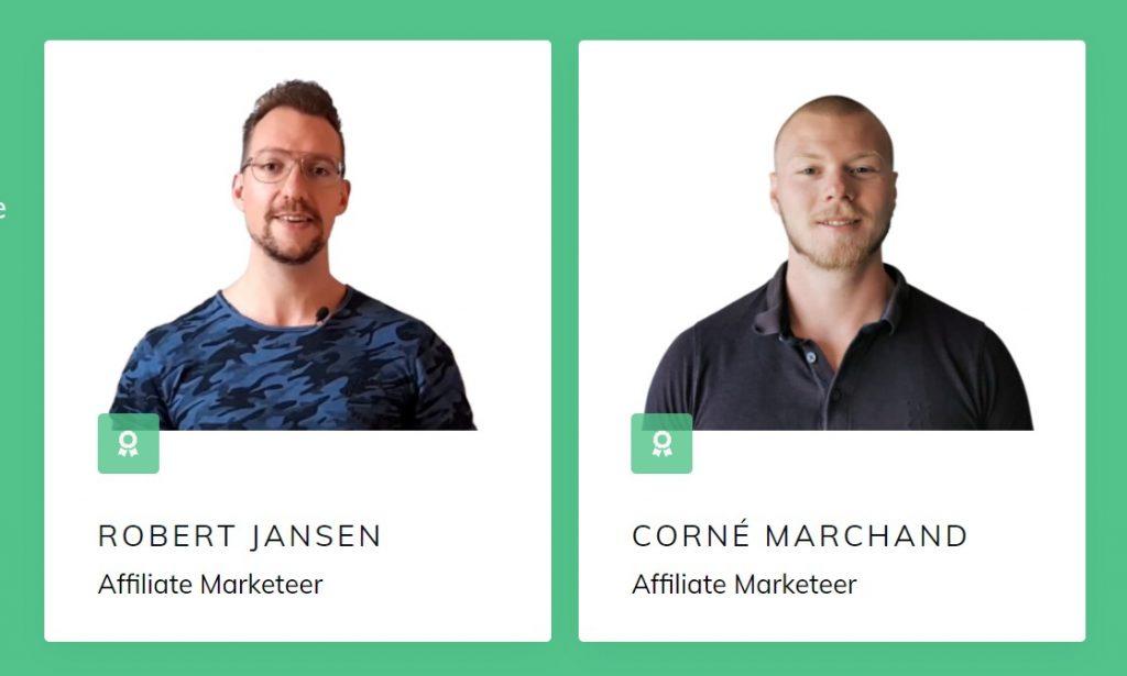 Op deze foto zie je Robert en Corné, oprichters van de Affiliate Marketing Domination