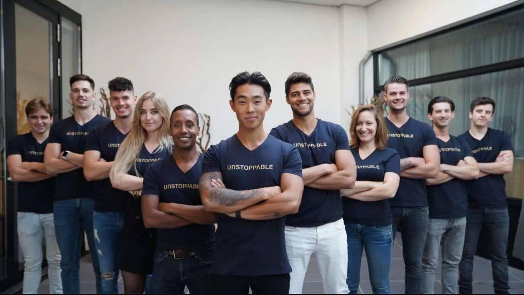 Op deze foto zien we team unstoppable wie verantwoordelijk zijn voor de bol masterclass