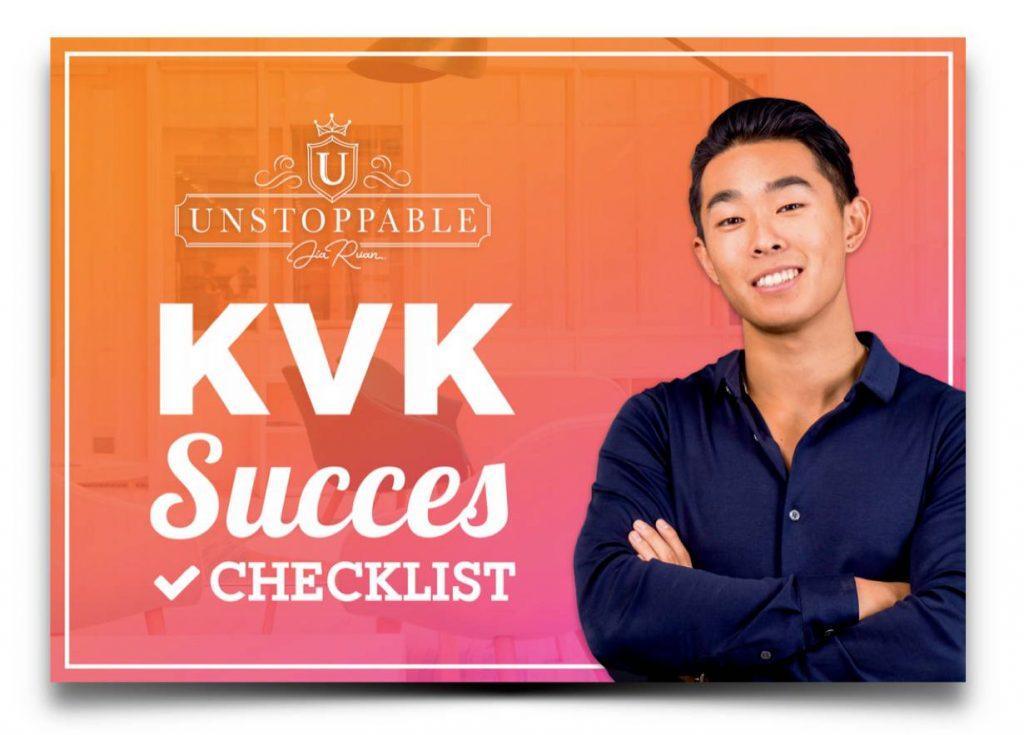 Op deze foto zie je de bonus Kvk succes checklist van de bol masterclass