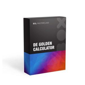 Op deze foto zie je de bonus golden calculator van de bol masterclass