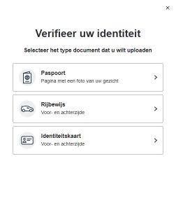 Op deze foto zie je het verificatieproces van bitvavo