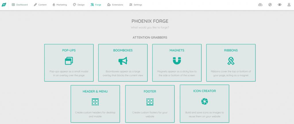 Op deze foto zie je de online omgeving van de phoenix software