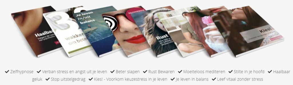 Op deze foto zie je de e-books van BreinTV
